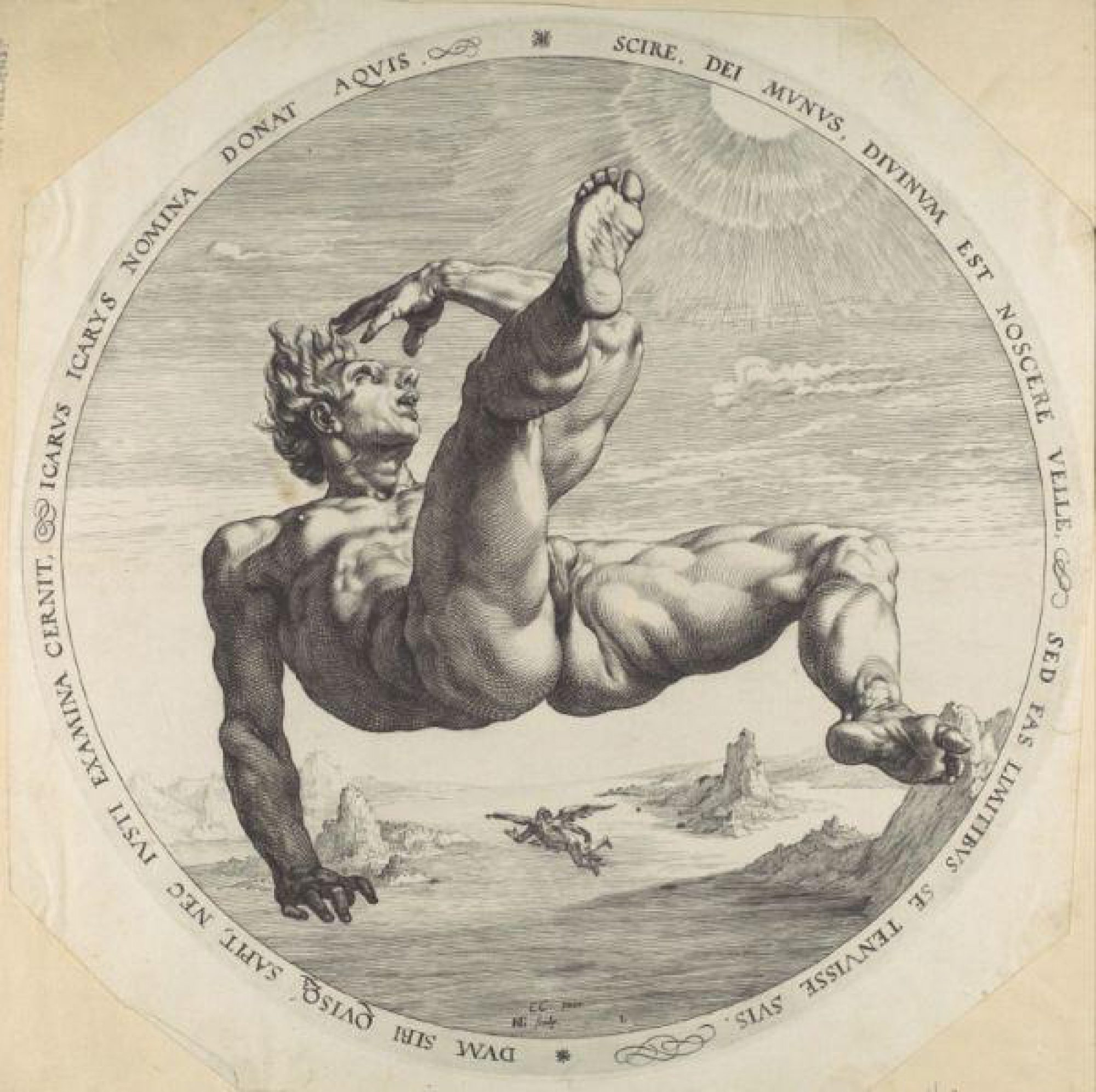 The Fall Of Icarus By Hendrick Goltzius 1382200414 B